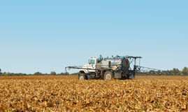 Spraying Farmland Stock Photography