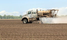 Spraying Farmland Stock Image
