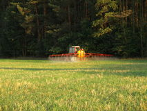 Spraying field Stock Photo