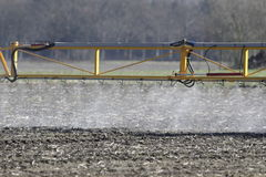 Spraying field Royalty Free Stock Photo