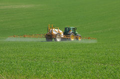 Spraying the field Royalty Free Stock Photography