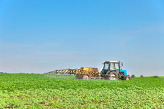 Spraying the field Royalty Free Stock Photo