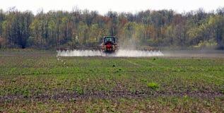 Spraying the fields Stock Photos
