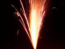 Spraying Fireworks Stock Photo