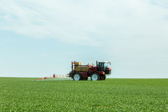 Spraying the herbicides Royalty Free Stock Photo
