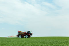 Spraying the herbicides Stock Photos