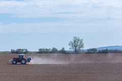 Spraying the herbicides Stock Photography