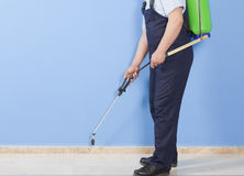 Spraying insects- pest control Stock Photography