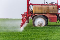 Spraying machine Royalty Free Stock Photo