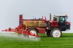 Spraying machine Stock Photo