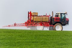 Spraying machine Royalty Free Stock Photography