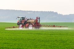 Spraying machine Royalty Free Stock Photos