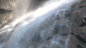 Spraying misty waterfall stock video footage