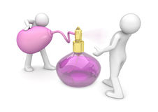 Spraying new fragrance Royalty Free Stock Images