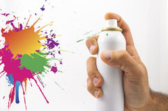 Spraying with paint Royalty Free Stock Image