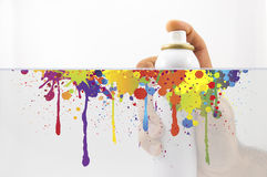 Spraying with paint Royalty Free Stock Photography