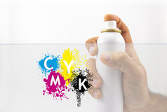 Spraying with paint Royalty Free Stock Photo
