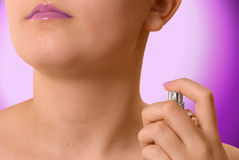Spraying Perfume Stock Photo