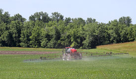 Spraying a Soybean Feild Stock Images