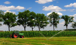 Spraying tractor Royalty Free Stock Photo