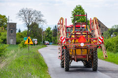 Spraying tractor Royalty Free Stock Photography