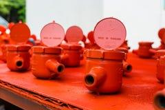 Spraying water meter Stock Photos