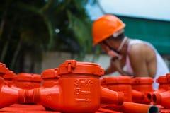 Spraying water meter Royalty Free Stock Images