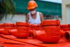 Spraying water meter Stock Photo