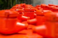 Spraying water meter Stock Photography