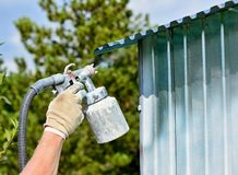 Spraying white color Royalty Free Stock Photography