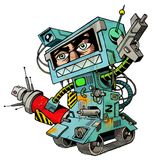 spraykrigare för 01 humanbot Arkivfoton
