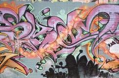 spraypainted надпись на стенах стоковое фото