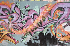 spraypainted grafitti Arkivfoto
