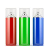 Sprays. 3d render of different colors isolated sprays Stock Photography