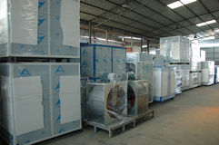 Spraystandfabrik in China lizenzfreie stockfotos