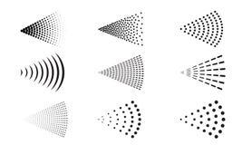 Sprayvektorikonenwasserluft-Sprüherdüse vektor abbildung