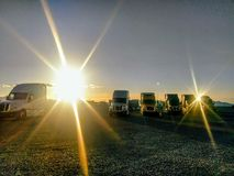 Sprazzi di sole del camion Fotografie Stock