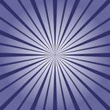 Sprazzo di sole blu scuro nella retro illustrazione di stile Immagini Stock