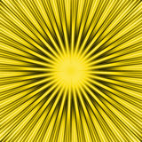 Sprazzo di sole giallo Fotografie Stock