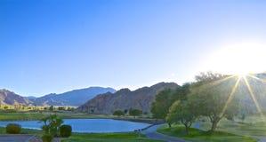 Sprazzo di sole di Palm Desert del campo da golf fotografie stock