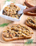 Spread on bread Royalty Free Stock Photo