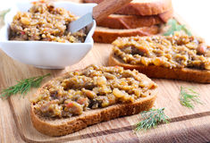 Spread on bread Stock Photography