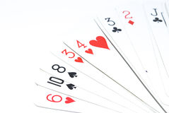 Spread cards royalty free stock image