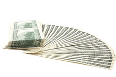 Spread of cash Stock Photography