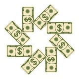 Spread of cash eight Royalty Free Stock Photography