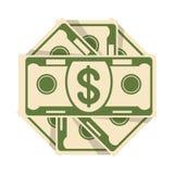 Spread of cash five Stock Photos