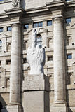 Spread (Cattelans statue in Piazza Affari) Royalty Free Stock Image
