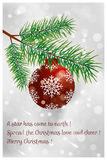 Spread the Christmas love and cheer. Beautiful Christmas card available in eps and jpg royalty free illustration
