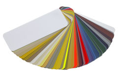 Spread color chart Stock Image