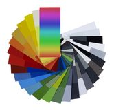 Spread color chart Stock Images